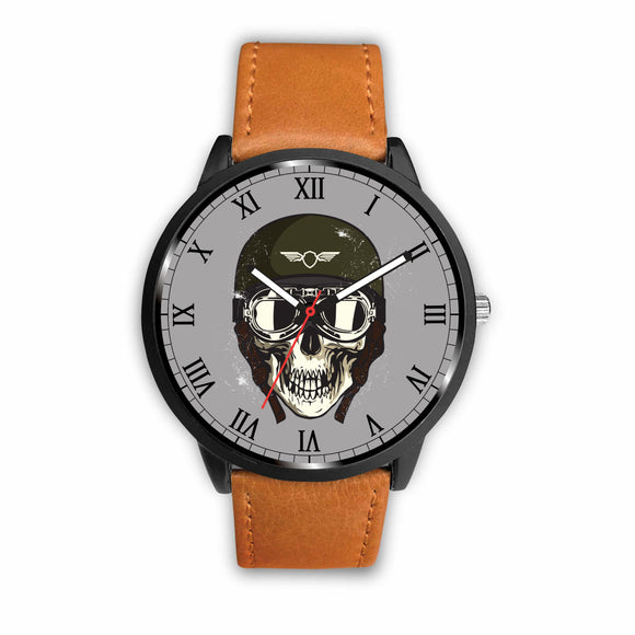 Biker Speed Junkie Fast N Loud Skull Goggles Watch - Trendy Staples
