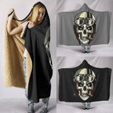Biker Speed Junkie Skull Hooded Blanket (2 Colours) - Trendy Staples