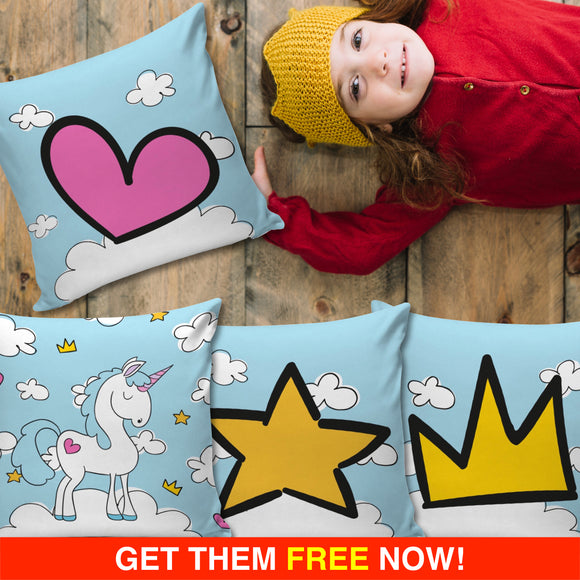 Blue Sky Unicorn Pillow Cover (FLASH OFFER) - Trendy Staples