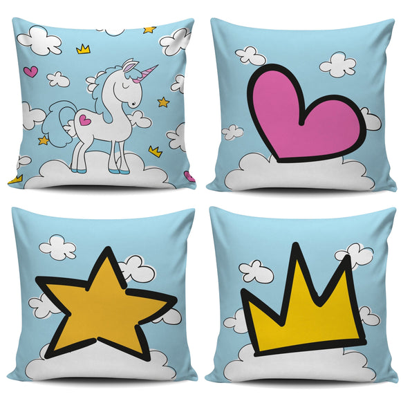 Blue Sky Unicorn Pillow Cover - Trendy Staples