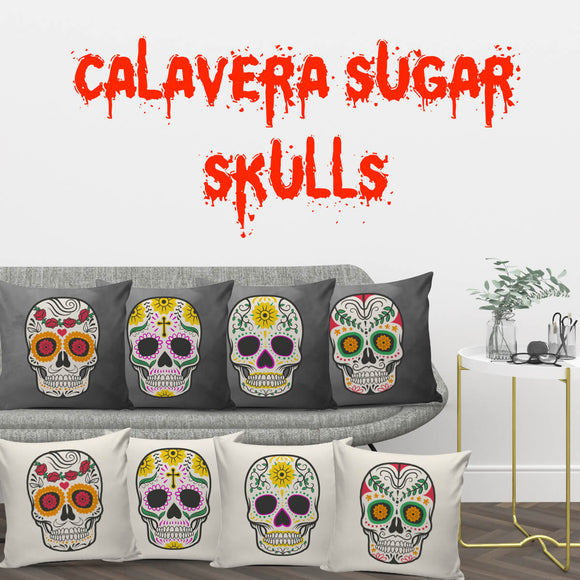 Craneo Calavera Skull Series Pillow Covers - Trendy Staples