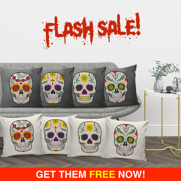 Craneo Calavera Skull Series Pillow Covers (FLASH OFFER) - Trendy Staples