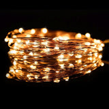 100 LED USB 5V Christmas Copper Wire Fairy String Decorative Lights (10 Meters) - Trendy Staples
