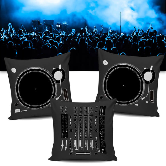 DJ Deejay Disc Jockey Mixer & Turntable Pillow / Cushion Covers - Trendy Staples