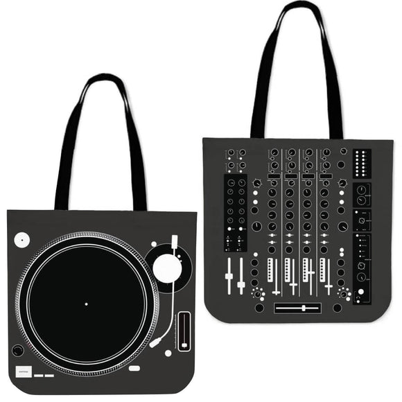 DJ TurnTable & Mixer Tote Bags - Trendy Staples