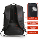"Mark Ryden Zeus Series Solar Powered 15.6"" Laptop Backpack With Dual Directional USB Charging Ports - Trendy Staples"