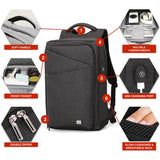 "Mark Ryden Zen 2 Series Water-Resistant Backpack Fits 15.6"" Laptop + USB Charging Port - Trendy Staples"