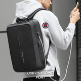Mark Ryden Cosmo Series Anti-Theft Water-Resistant Laptop Dual Backpack & Messenger Bag With USB Charging Port - Trendy Staples