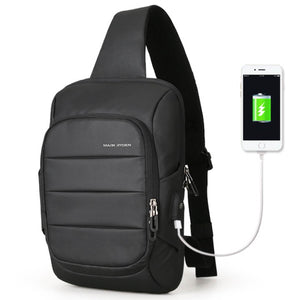 Mark Ryden Lux Series Water-Resistant Cross Shoulder Bag with USB Charging Port - Trendy Staples