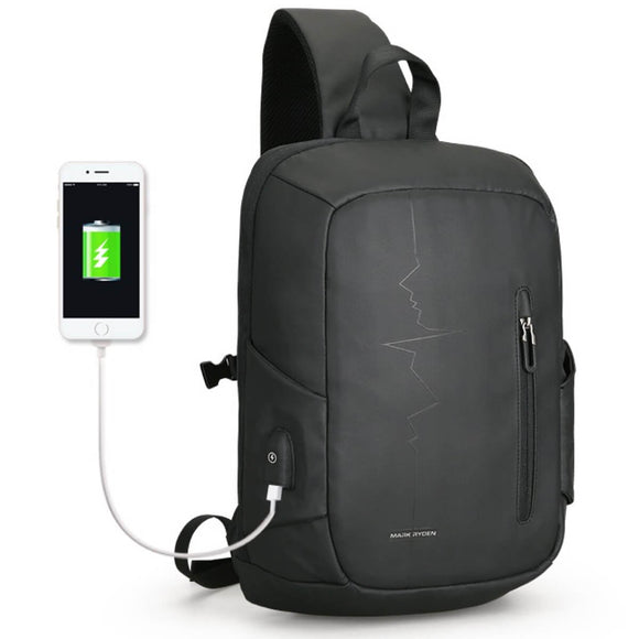 Mark Ryden Pulse Series Water-Resistant Cross Shoulder 14 Inch Laptop Bag with USB Charging Port - Trendy Staples