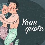 Mermaid Couple Shower Curtain With Quotations (Customisable) - Trendy Staples