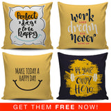 Sunshine Motivational Quotes Pillow Covers (FLASH OFFER) - Trendy Staples