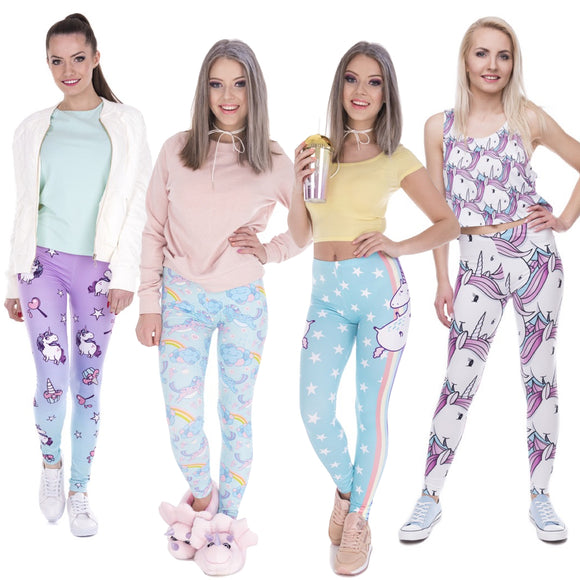 Unicorn Printed Leggings (6 Designs) - Trendy Staples