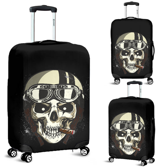 Biker Speed Junkie Fast N Loud Skull Cigar Luggage Cover - Trendy Staples