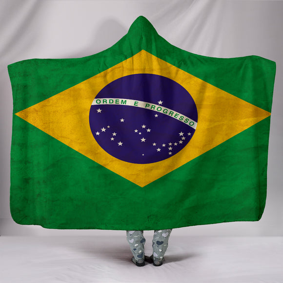 Custom Hoodie Blanket - Brazil Flag - Trendy Staples