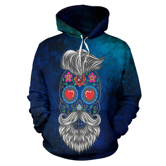 Calavera Hipster Eyes of Hearts Hoodie - Trendy Staples