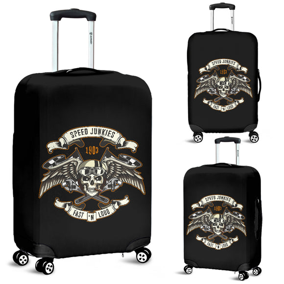 Biker Speed Junkie Fast N Loud Luggage Cover - Trendy Staples