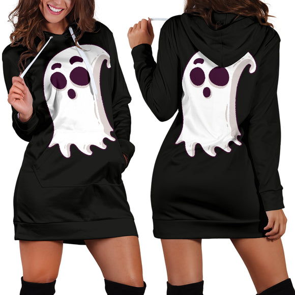 Cartoon Halloween Character Hoodie Dress - Ghost - Trendy Staples