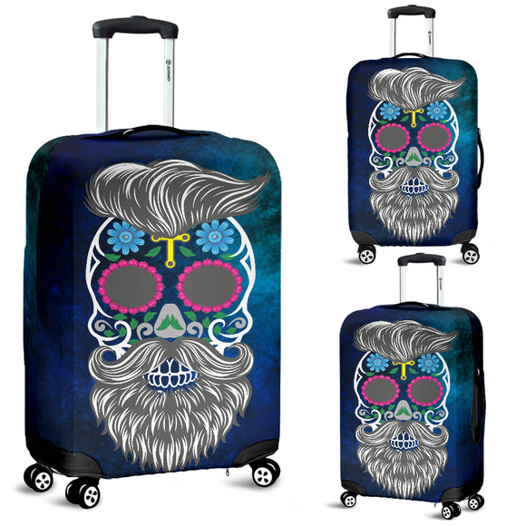 Calavera Hipster Yellow Cross Luggage Cover - Trendy Staples