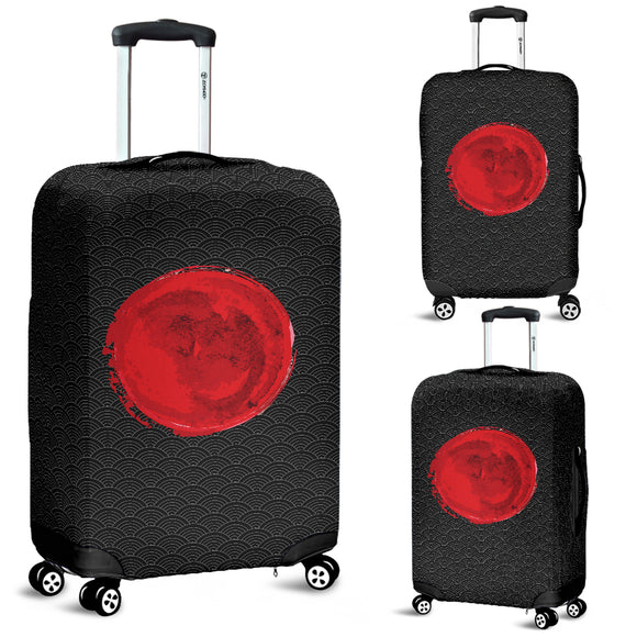 Japanese Black Oceanic Pattern Luggage Cover - Trendy Staples