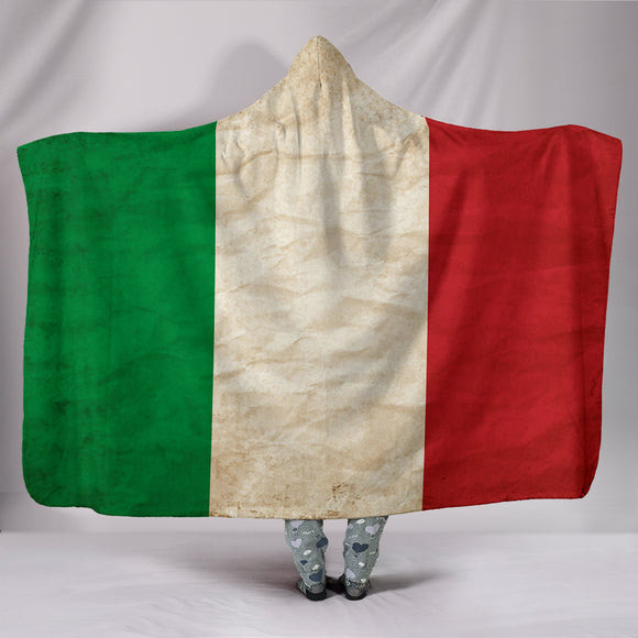 Custom Hoodie Blanket - Italian Flag - Trendy Staples