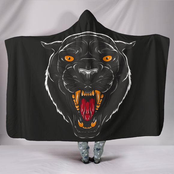 Hageshi Black Panther Hooded Blanket - Trendy Staples