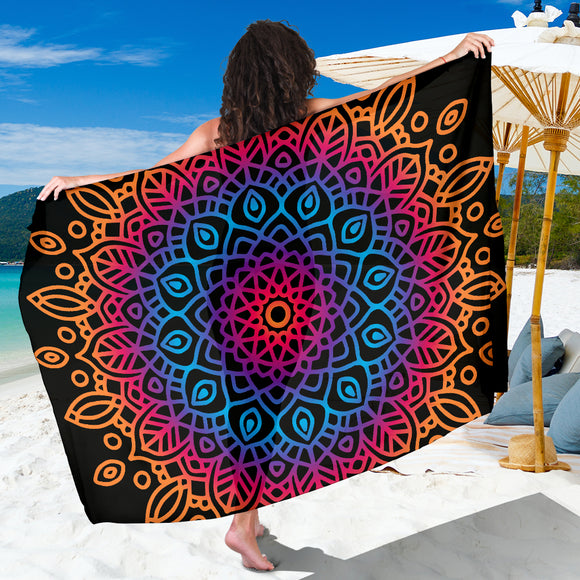 Mandala Blue Amber Sarong - Trendy Staples