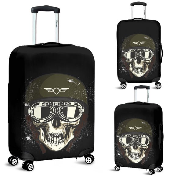 Biker Speed Junkie Fast N Loud Skull Goggles Luggage Cover - Trendy Staples