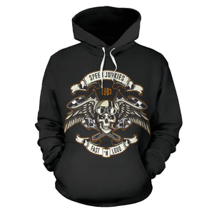 Biker Speed Junkie Fast N Loud Hoodie Jacket - Trendy Staples
