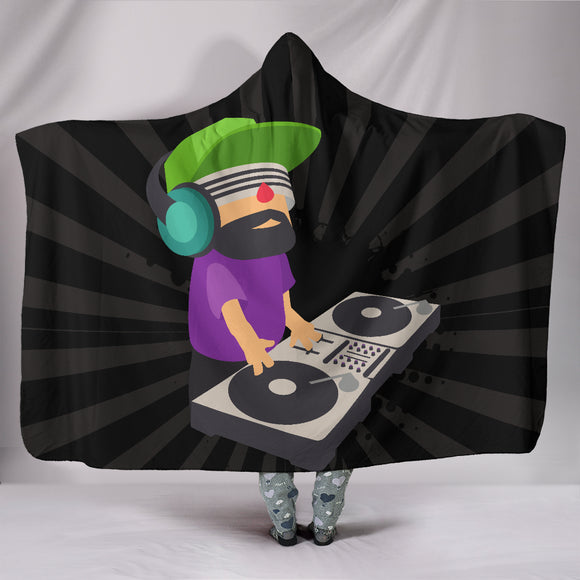DJ EDM Rave Deejay Blast Hooded Blanket - Trendy Staples