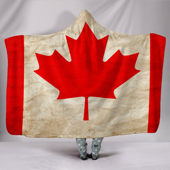 Custom Hoodie Blanket - Canadian Flag - Trendy Staples