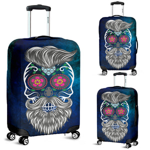 Calavera Hipster Bloom Luggage Cover - Trendy Staples