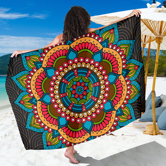 Mandala Teal Red Sarong - Trendy Staples