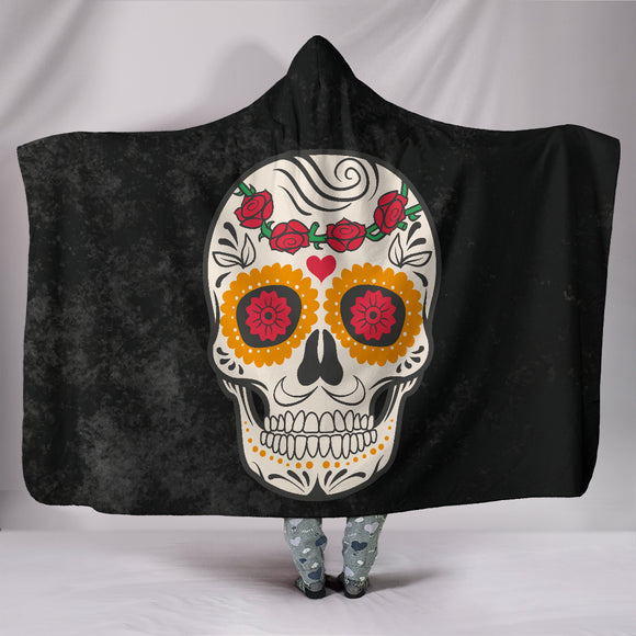 Craneo Calavera Skull Hooded Blanket (4 Design Variants) - Trendy Staples