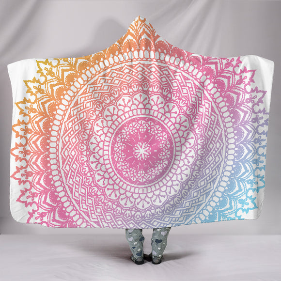 Mandala Pastel Hooded Blanket - Trendy Staples