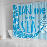Mermaid Shower Curtain - Take Me To The Sea - Trendy Staples