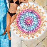 Mandala Blue Amber Beach Blanket (White/Black Variants) - Trendy Staples