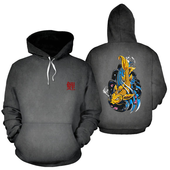 Japanese Carp Fish Tattoo Hoodie Jacket - Trendy Staples