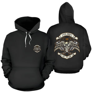 Biker Speed Junkies Wings Hoodie Jacket (Chest Logo) - Trendy Staples