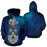 Calavera Hipster Diamond Hearts Hoodie - Trendy Staples