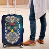 Calavera Hipster Diamond Hearts Luggage Cover - Trendy Staples