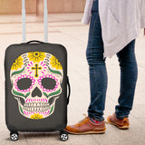 Craneo Calavera Skull Yellow Cross Luggage Cover - Trendy Staples