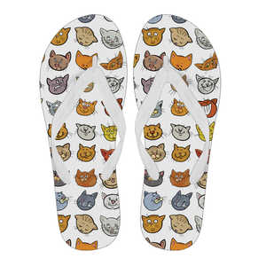 Cartoon Kitty Cat Flip Flop Slippers - Trendy Staples