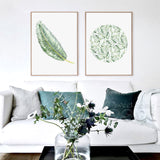 Watercolor Tropical Leaf Canvas Art Print - Trendy Staples