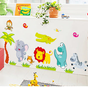 Zoo Animals Wall Sticker For Kids - Trendy Staples