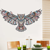 Colorful Abstract Owl In Flight Wall Sticker - Trendy Staples