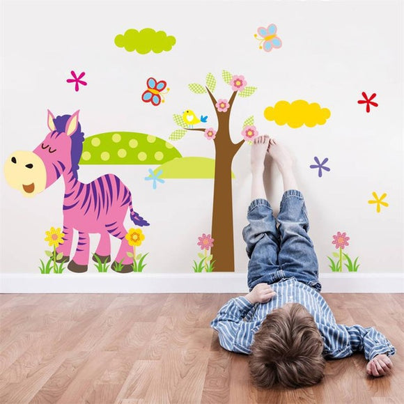 Safari Animals Wall Stickers For Kids (4 Variants) - Trendy Staples