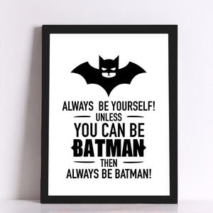 You Can Be Batman Canvas Art Print - Trendy Staples