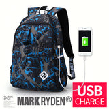 Mark Ryden Hiker Series Water-Resistant Nylon Laptop Backpack With USB Charging Port - Trendy Staples