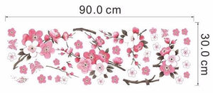 Japanese Water Color Cherry Blossom Wall Stickers - Trendy Staples